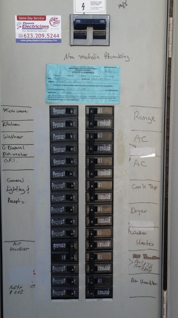 200 Amp Main Breaker Installation In Paradise Valley  Az